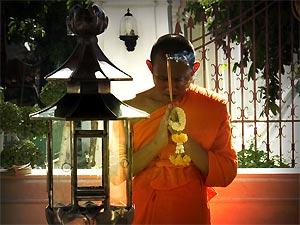 Monnik gebed Chiang Mai Thailand