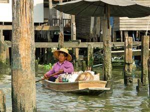 Varen door Khlong Thailand