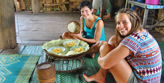 Eten bergdorp Laos