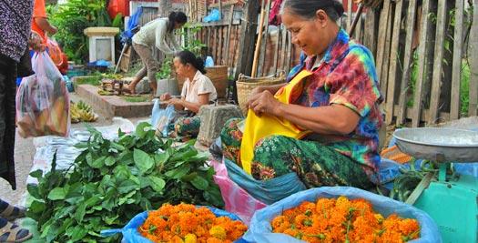 Markt Luang Prabang Laos
