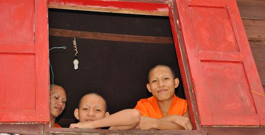 Laos reizen - monnikken
