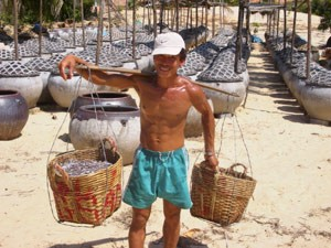 Visser strand - rondreis Cambodja