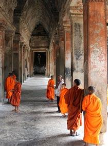 Cambodja rondreis monniken