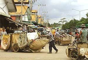 aranyaprathet straatbeeld cambodja