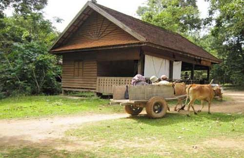 cambodja homestay platteland