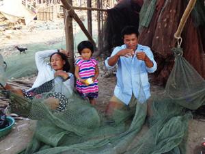 cambodja familie tonle sap