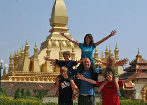 familie vientiane - laos cambodja