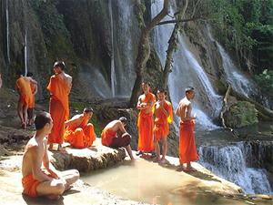 Cambodja combineren met - Thailand monniken