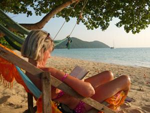 cambodja eiland koh rong stoel