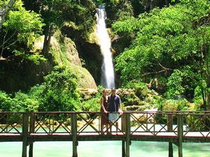 laos cambodja kuang si watervallen