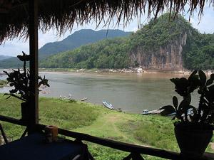 mekong uitzicht laos