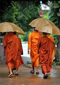 monniken regen