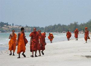 cambodja strand monniken