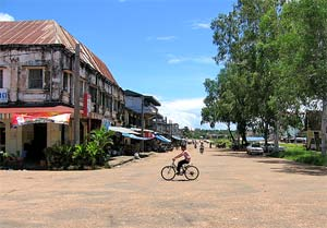cambodja laos straatbeeld stung treng
