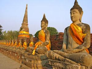 thailand ayutthaya beelden