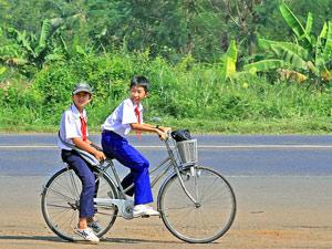 vietnam cambodja fiets