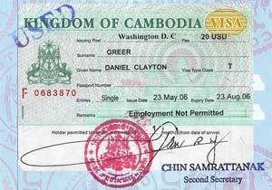 visum van cambodja