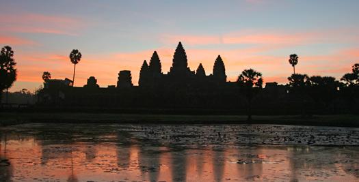 Cambodja rondreis - Angkor Wat zonsondergang