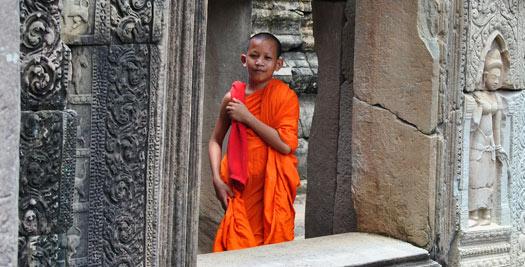 Cambodja rondreizen - monnik Angkor