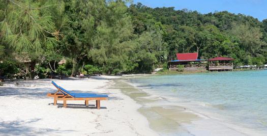 Strand Cambodja vakantie
