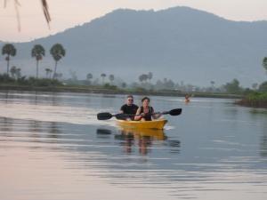 Kampot rivier, kampot, cambodja rondreis
