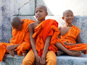 Cambodja reizen monniken