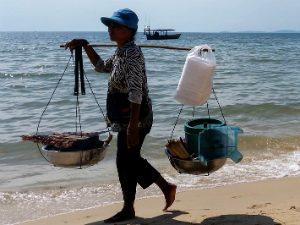 Kep strand Cambodja