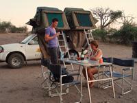fourwheeldrive campsite botswana