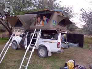 fourwheeldrive daktent botswana