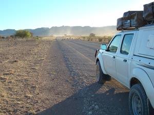 fourwheeldrive onderweg botswana