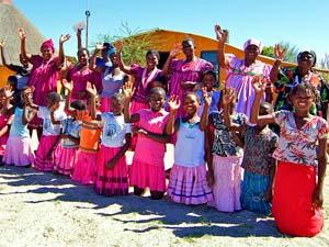 ongula village homestead namibie
