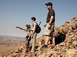 Uitzicht fishriver canyon namibie reizen
