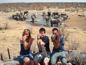 Etosha waterdrinkplaats namibie