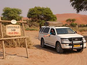 autohuur namibie rijden