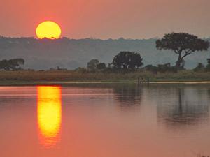 reis botswana caprivi sunset