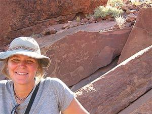 twijfelfontein rotstekening namibie