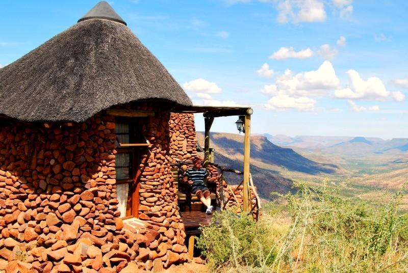 Grootberg lodge bungalow Namibië reis