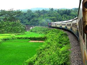 natuur java indonesie trein