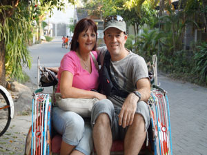 reizigers in indonesie