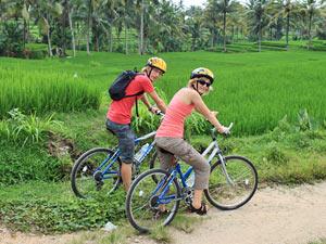 fietsen frisgroene omgeving bali indonesie