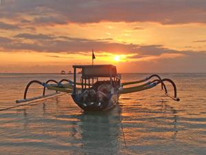 boot gili zonsondergang