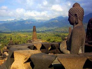 borobudur uitzicht indonesie