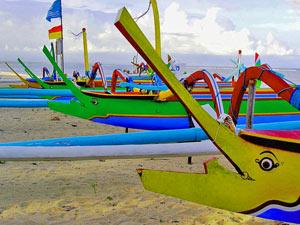 sanur boten rondreis indonesie