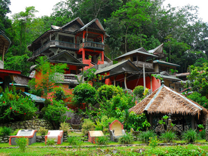 jungle lodge in Indonesie