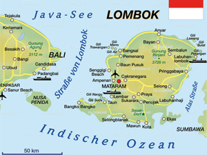 lombok indonesie kaart