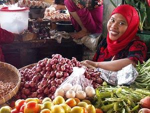 lokale markt indonesie rondreis