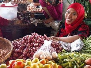lokale markt rondreis indonesie