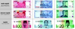 oude en nieuwe bankbiljetten indonesie