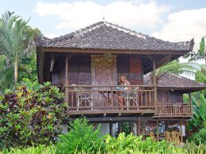 overnachten in simpele hut Indonesie