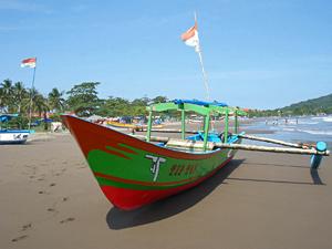 pangandaran strand indonesie